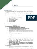 Module 2 Study Guide