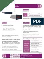48x96 Aci Phase Ammeter Voltmeter
