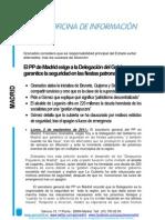 El PP de Madrid exige a la Delegación del Gobierno que