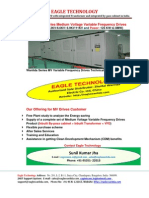 Medium Voltage Drives with integrated transformer and integrated bypass cabinet Supplied by EAGLE TECHNOLOGY in India
