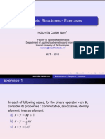 Chapter v - Algebraic Structures - Exercises