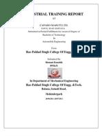 Industrial Training Report (1) Hemant