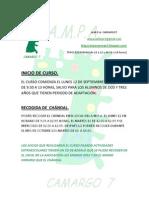 Info Inicio Curso 2011-12