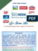 Analysts Meet Finance Mar 11
