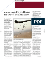 Banks urged to end loans for cluster bomb makers | Big Issue in the North
