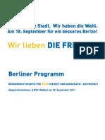 DIE FREIHEIT Berliner Programm 2011