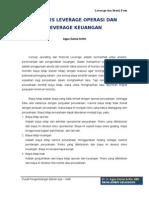 Analisis Leverage Operasi Dan Leverage Keuangan