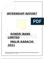 Soneri Bank Internship Report 2011