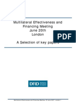 DFID-Review of Multilateral Effectiveness