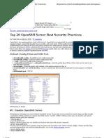 20 Openssh Best Sec Practice