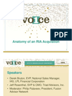 Anatomy of an RIA Acquisition