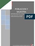 Metodologia de La Investigacioj Poblacion y Muestra