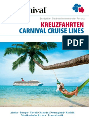 Carnival Cruise Lines Katalog 2012 2013 (Deutschland DE)