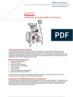 Deaerator specifically designed for laboratory & pilot applications