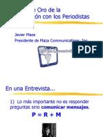 7 Reglas de Oro de la Comunicación con Periodistas - Javier Maza