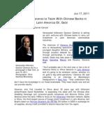 Adriana Cisneros and Gustavo Cisneros - Bloomberg Interview
