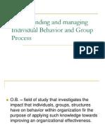 Individul Behavior