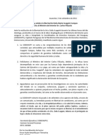 Comunicado - Sobre liberación de Dalia Scappini
