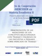 Armonización de las mediciones de los conceptos relacionados con trabajo e ingreso