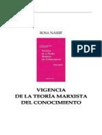32730774 Rosa Nassif Vigencia de La Teoria Marxista Del Conocimiento