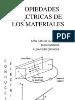 PROPIEDADES ELÉCTRICAS DE LOS MATERIALES