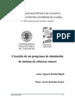 Memoria PFC Creación de un programa de simulación de sistema de refuerzo sonoro