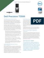 Dell Precision t3500 Spec Sheet