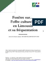 L'offre culturelle en Limousin et sa fréquentation (juillet 2011)