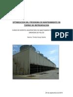 Optimizacion Programa Mantenimiento Torres de Refrigeracion