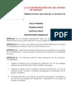 to de La Ley de Proteccion Civil Del Estado