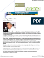 5-09-11 Ley de Seguridad - Cano Vélez