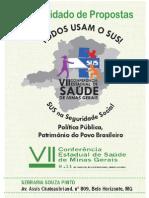 Consolidado de Propostas - VII Conferência Estadual de Saúde de Minas Gerais