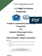 Creative Leadership Seminar & Workshop Sek Men Sains Pilin Rembau N9 MSWindow 2003 Versions