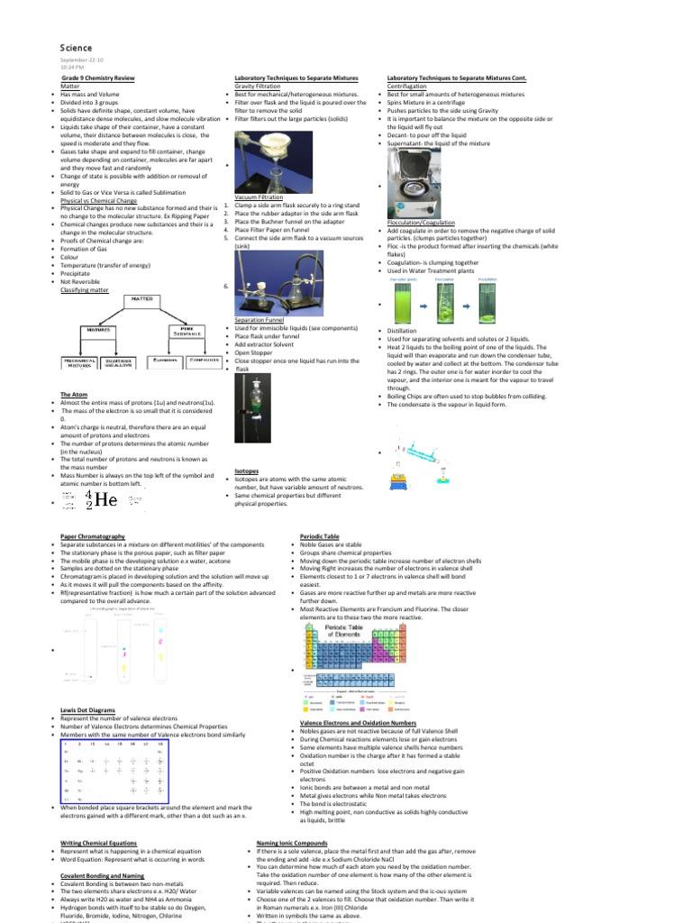 grade 9 science exam review pdf