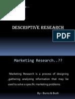 Descriptive Research I-Marketing Research