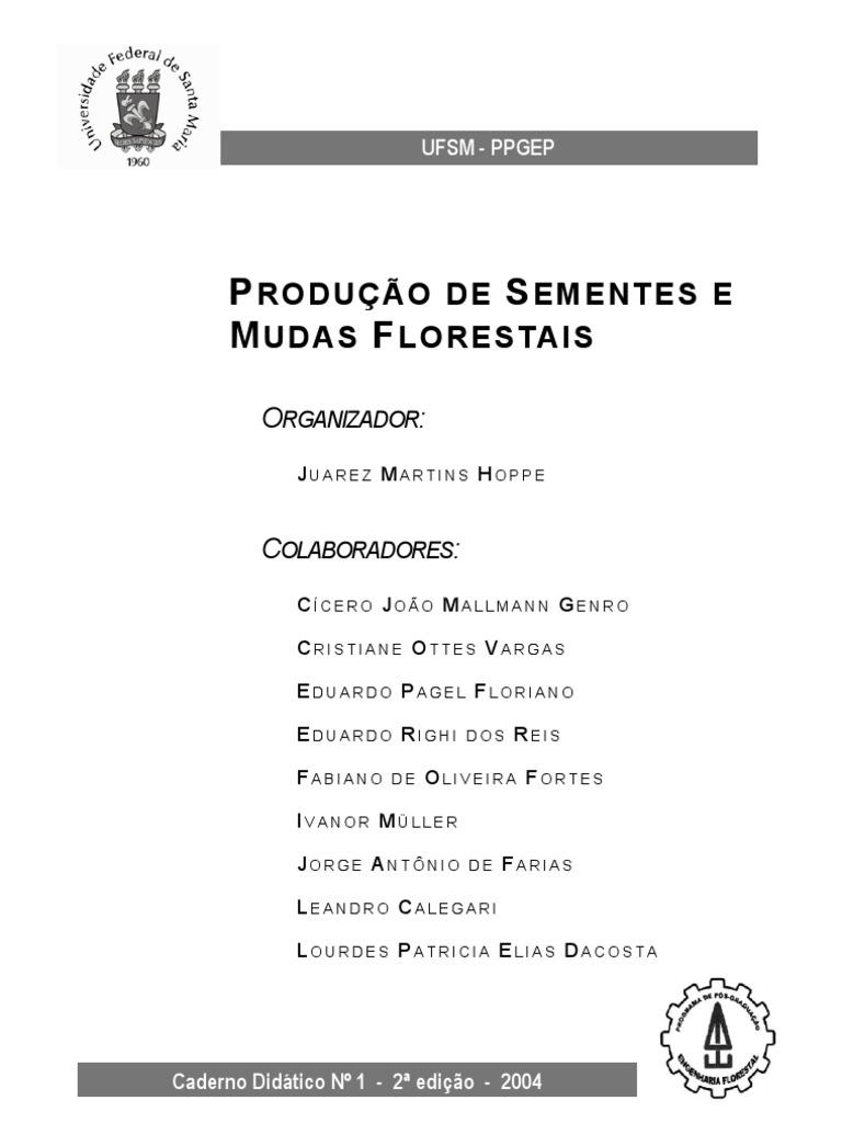 Livro producao de sementes e mudas florestais fandeluxe Choice Image