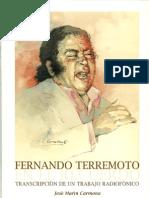 Fernando Terremoto en el recuerdo por José Marín Carmona