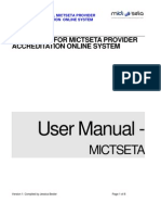 Mict Provider Online Manual