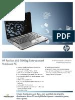 Folheto de HP DV5-1040