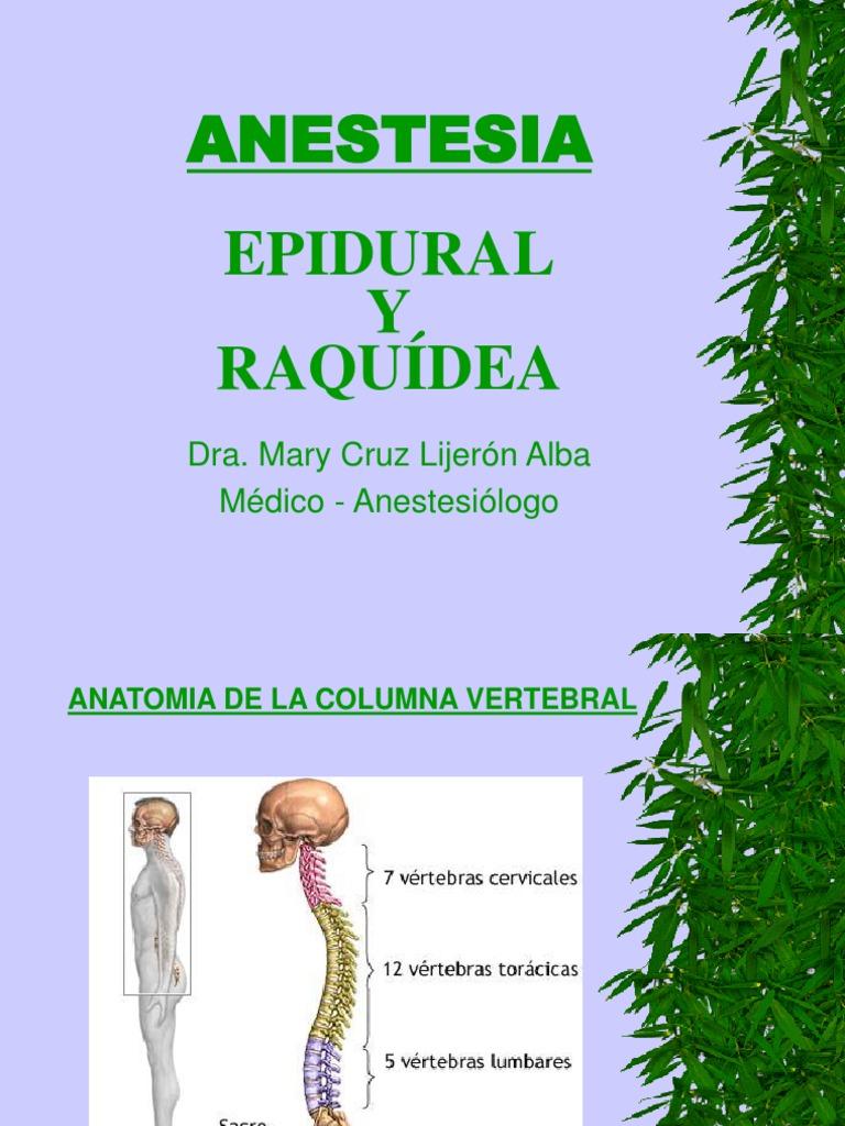 Anestesia Peri y Raqui