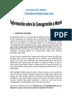INFORMACION SOBRE LA CONSAGRACION A MARIA | ALIANZA DE AMOR