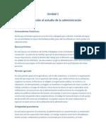 Unidad 1-Introduccion Al Estudio de La Admin is Trac Ion