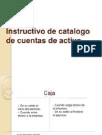 Instructivo catálogo de cuenta