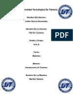 Estructuras Del Turismo, Tarea