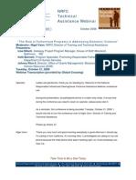 The Role of Fatherhood Programs in Addressing Domestic Violence - Webinar 2008
