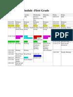 First Grade Schedule 2011 2012