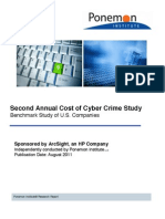 Annual Ponemon Cost of Cyber Crime Study