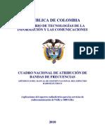 CuadroNacionalAtribucionBandasdeFrecuencias2010