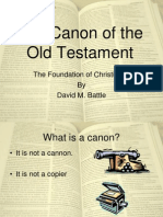 The Canon of the Old Testament