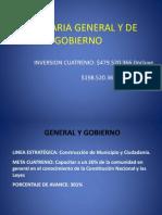 General y de Gobierno